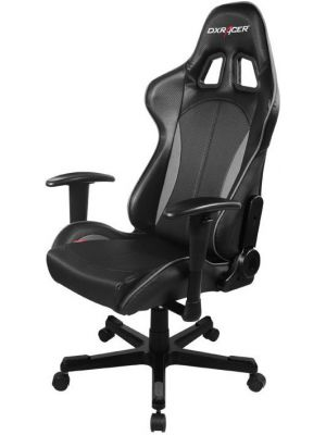 DXRacer Formula FL57 Gaming Chair - Sparco Style Neck/Lumbar Support Black & Carbon Grey