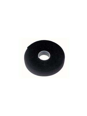 Cabac 12mm 2 x 25m Roll Black back to back grip for CAT6 Pro Cable Tie