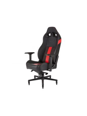 CORSAIR T2 ROAD WARRIOR, High Back Desk and Office Chair, Black/Red, 2 Year Warranty. (LS)