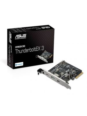 Asus THUNDERBOLTEX 3 card, A Single Port Integrating Thunderbolt 3, Reversible USB 3.1 Type-C and DisplayPort 1.2, 40Gbps Transfer Rate