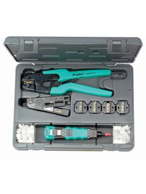 ProsKit Professional Twisted Pair Installer Kit - RJ11, RJ45 and RJ22 - Includes Wire Strippers