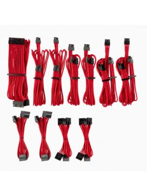 For Corsair PSU - RED Premium Individually Sleeved DC Cable Pro Kit, Type 4 (Generation 4)