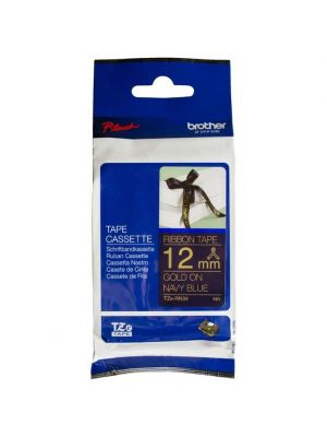 Brother 12mm X 4mm Gold on Navy Blue Ribbon