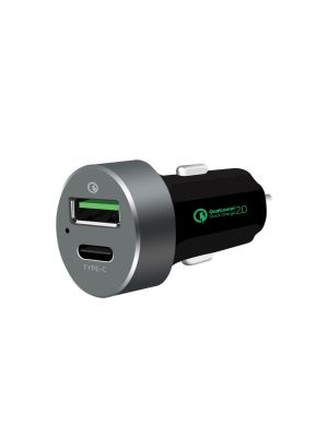 mbeat® QuickBoost USB 2.0 & USB Type-C Dual Port Car Charger -  Certified Qualcomm Quick Charge 2.0 technology /Fast Charging/ Samsung Galaxy Note