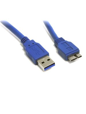 8Ware USB 3.0 Cable 3m A to Micro-USB B Male to Male Blue