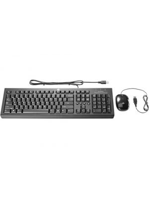 HP USB Essential Keyboard Mouse Combo Black - programmable pre-programmed buttons KB