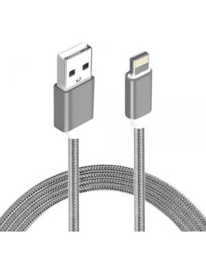 Astrotek 2m USB Lightning Data Sync Charger Grey White Color Cable for iPhone 7S 7 Plus 6S 6 Plus 5 5S iPad Air Mini iPod