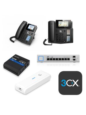 VOIP - Tax Time Special,  SMB Pack, 6 Phone System  (5 x X4G, 1 x X6, 1 x US-8-150W, 1 x RUT240-LTE, 1 x UC-CK, 1 x PRO SPLA 4SC)