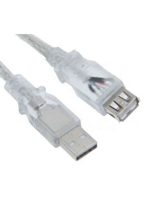 Astrotek USB 2.0 Extension Cable 5m - Type A Male to Type A Female Transparent Colour RoHS