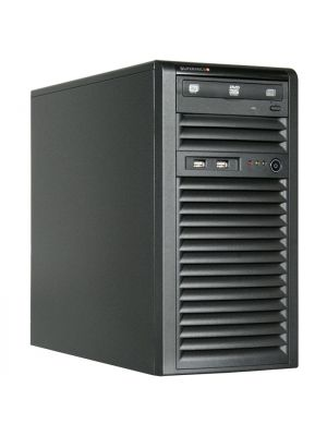SuperMicro SuperChassis 731i-300B, Mini Tower, Suits Micro ATX MB, 2 x Front USB 2.0, 2 x 5.25' HDD bays, 4 x 3.5' HDD Bays, No PSU, Black