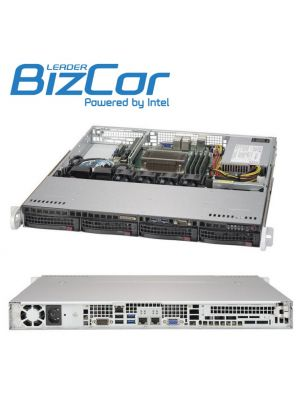 BizCor 1RU Server , Intel Xeon E3-1225V6, 16GB DDR4,  1 x 2TB 3.5' HDD ,150GB NVME M.2,  4 x 3.5' HS HDD Bays, 350w PSU, 3 Year Onsite NBD Warranty