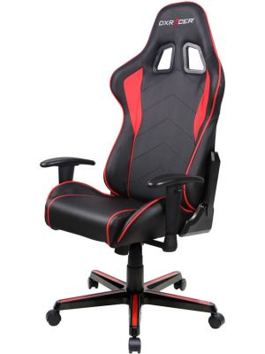 DXRacer Formula FL08 Gaming Chair - Sparco Style Neck/Lumbar Support Black & Red