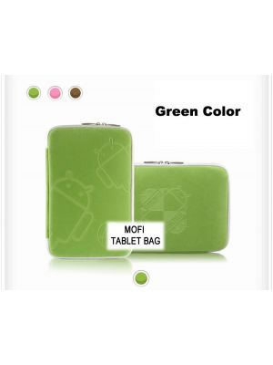 Tablet 10' MofiZip Case Green Andriod logo. Suit any 10' tab