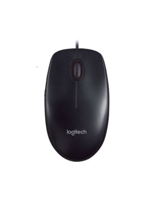 Logitech M90 USB Wired Optical Mouse 1000dpi for PC Laptop Mac Full Size Comfort smooth mover