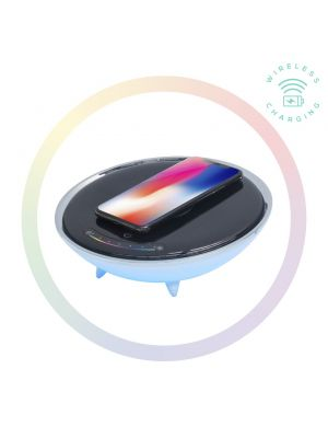 mbeat® Wireless Charging Station with RGB Colour Lighting Charging Stand - Compatible with iPhone 8/8 PLUS/X/Galaxy S8