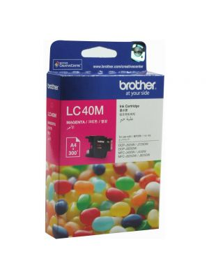 Brother LC-40M Megenta Ink Cartridge- to suit DCP-J525W/J725DW/J925DW, MFC-J430W/J432W/J625DW/J825DW- up to 300 pages