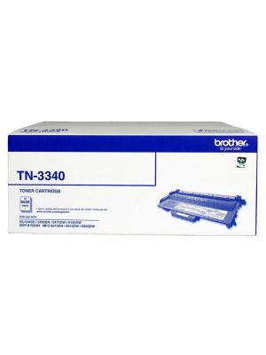 Brother TN-3340 Mono Laser toner - High yield - HL-5440D/5450DN/5470DW/6180DW & MFC-8510DN/8910DW/8950DW & DCP-8155DN-  up to 8000 pages