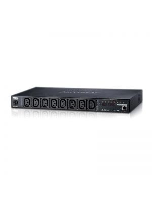 Aten 8-Port 10A Eco Power Distribution Unit with Port Monitor - PDU over IP, 1RU Rack Mount Design, Control and Monitor Power Status (PE8108G)