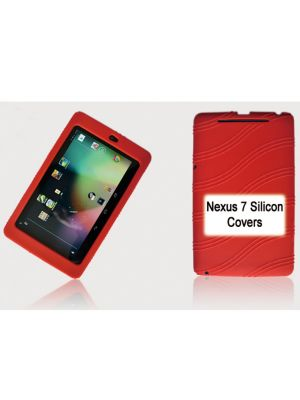 Tablet 7' Silicon Back Red Back Case for Nexus 7 / 7' Tab