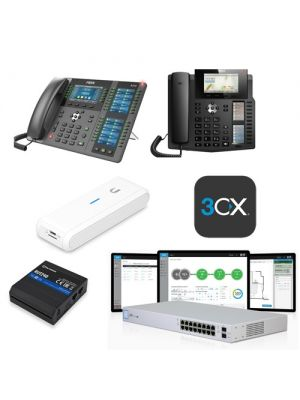 VOIP - Tax Time Special,  Enterprise Pack, 12 Phone System  (11 x X6, 1 x X210, 1 x US-16-150W, 1 x RUT240-LTE, 1 x UC-CK, 1 x PRO SPLA 8SC)