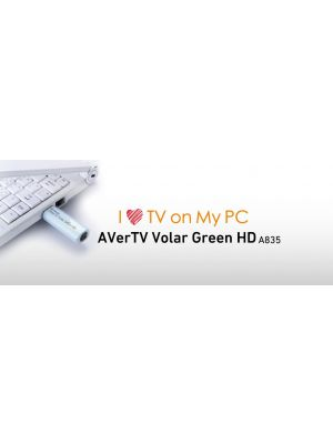 AVerMedia A835 Volar Green HD USB Digital TV Tuner with Remote. H.264 / MPEG-2 HDTV up to 1080i. Watch TV on the go! 12 Months Warranty