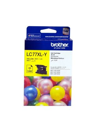 Brother LC-77XLY Yellow Super High Yield Ink Cartridge- MFC-J6510DW/J6710DW/J6910DW/J5910DW - up to 1200 pages