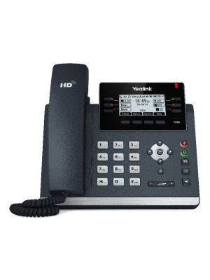 Yealink T42S (Skype for Business Edition) 12 Line IP phone, 2.7'192x64 pixel graphical LCD with backlight, Dual Gigabit Ports, 6 Program keys