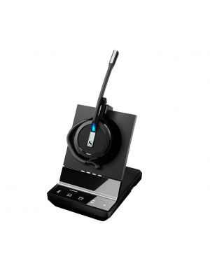 EPOS | Sennheiser Impact SDW 5015 DECT Wireless Office Monoaural Headset w/ base station, for PC & Desk Phone, 3-in-1 headset