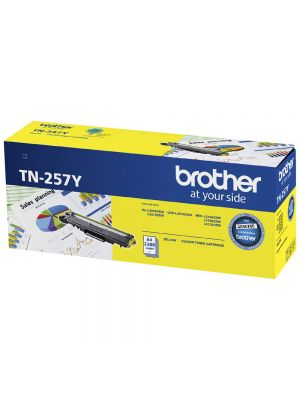 Brother TN-257Y Yellow High Yield Toner Cartridge to Suit -  HL-3230CDW/3270CDW/DCP-L3015CDW/MFC-L3745CDW/L3750CDW/L3770CDW (2,300 Pages)