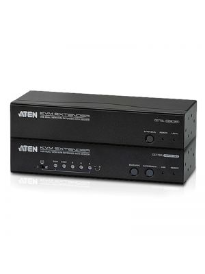 Aten USB Dual VGA Cat 5 KVM Extender with Deskew, extends up to 1280 x 1024 @ 300m and 1920 x 1200 @ 60Hz @ 150 m, extends RS232 and audio