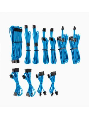 For Corsair PSU - BLUE Premium Individually Sleeved DC Cable Pro Kit, Type 4 (Generation 4)