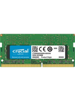 Crucial 8GB (1x8GB) DDR4 SODIMM 2400MHz CL17 1.2V Single Ranked Single Stick Notebook Laptop Memory
